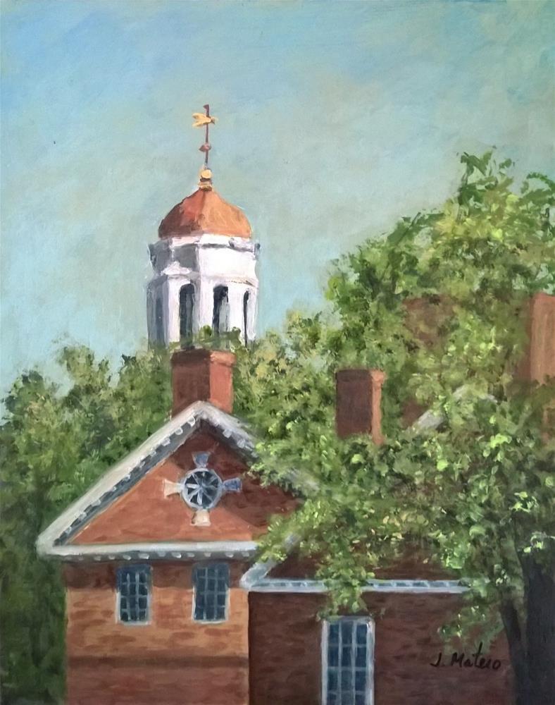 """Harvard University"" original fine art by Joan Matero"