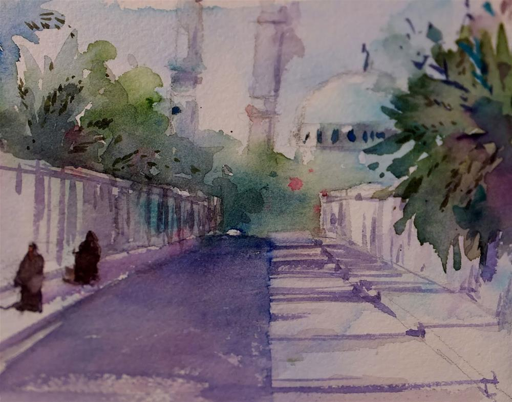 """Al Ain,UAE"" original fine art by Midori Yoshino"