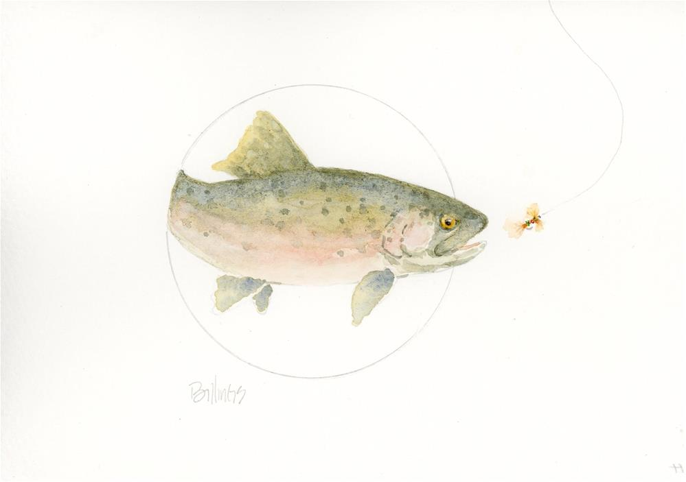"""Trout Study VI"" original fine art by Susanne Billings"