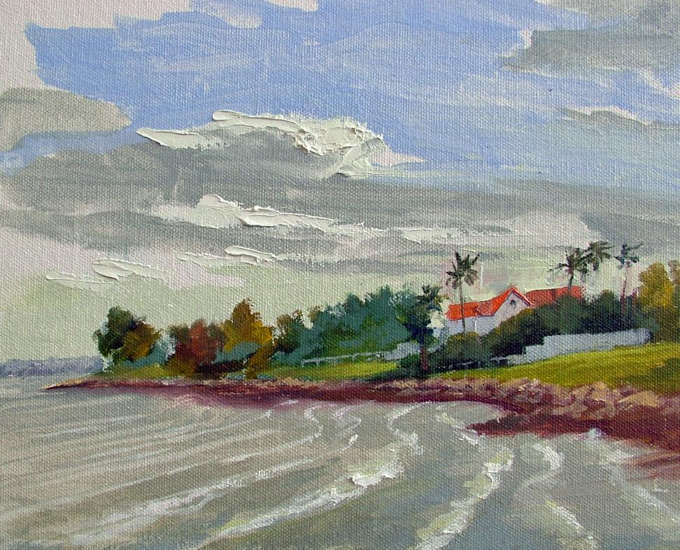 """""""Windy Day in Kemah"""" original fine art by Nancy Paris Pruden"""