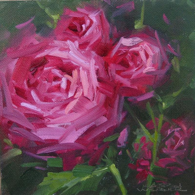 """""""Pink"""" original fine art by Karen Werner"""