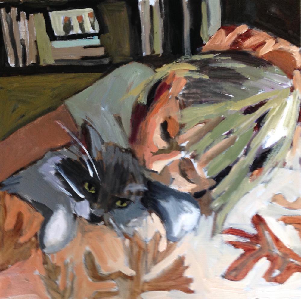 """My Baby With Her Baby"" original fine art by Pamela Hoffmeister"