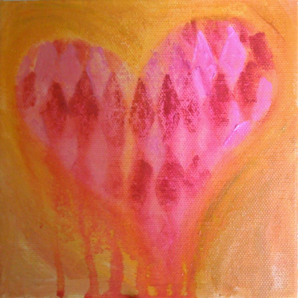 """Bleeding Heart"" original fine art by Gerri Obrecht"