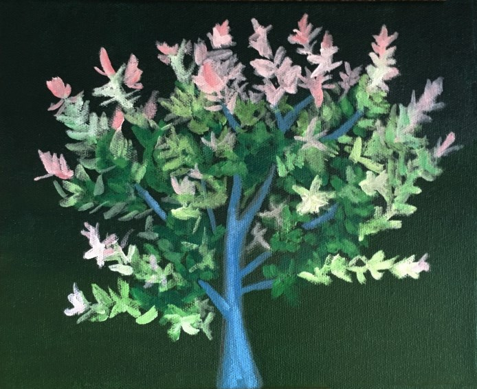 """Flowering Tree"" original fine art by Betsy Cook"