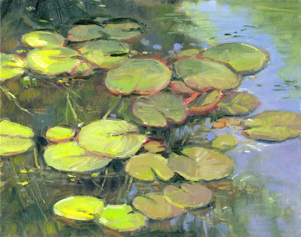 """LIly Pads"" original fine art by Kath Reilly"