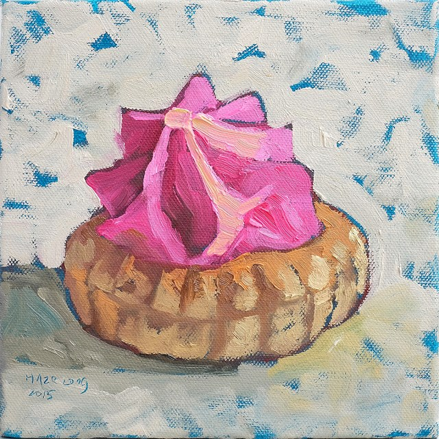 """Pink Sugar Biscuit"" original fine art by Haze Long"
