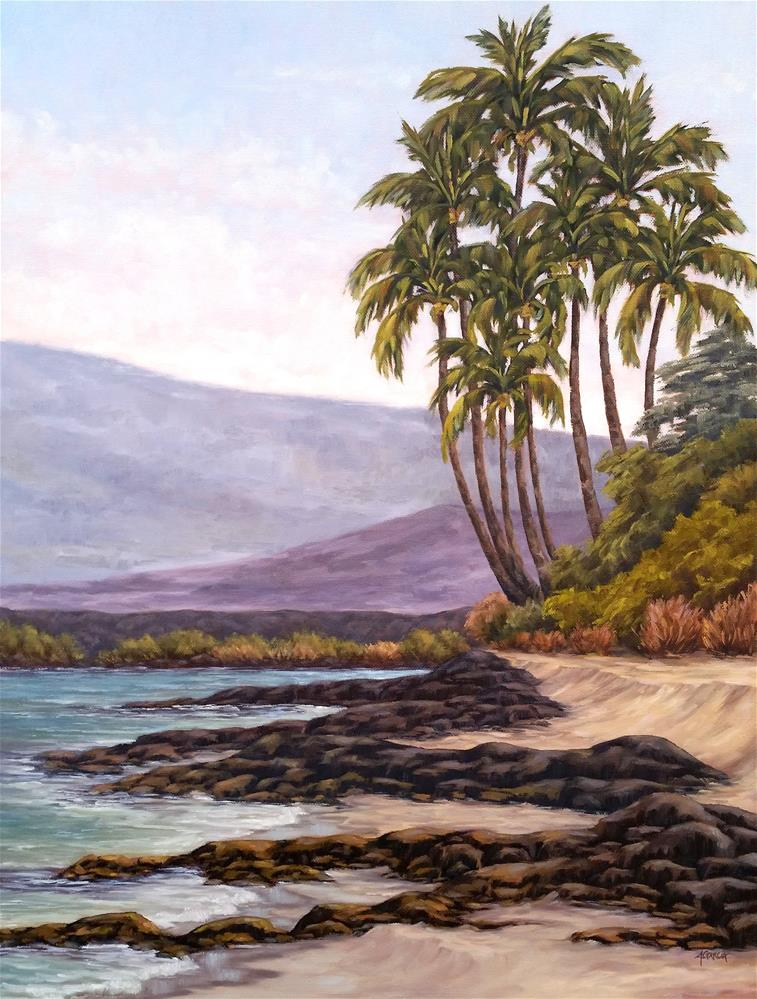 """Kiholo Palms"" original fine art by Jeannie Garcia"