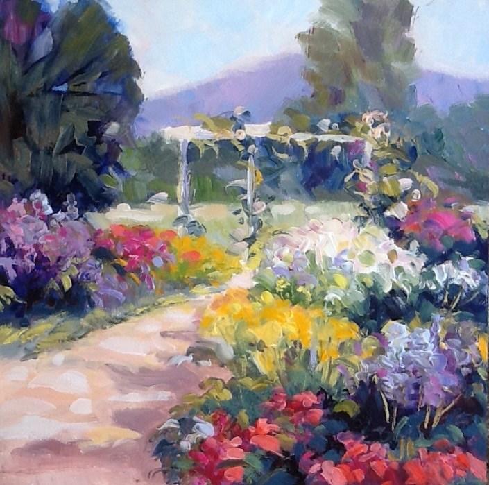 """""""Garden Arbor"""" original fine art by Jean Fitzgerald"""