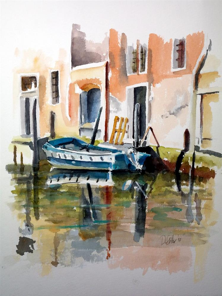 """""""1417 Venetian Reflections"""" original fine art by Dietmar Stiller"""