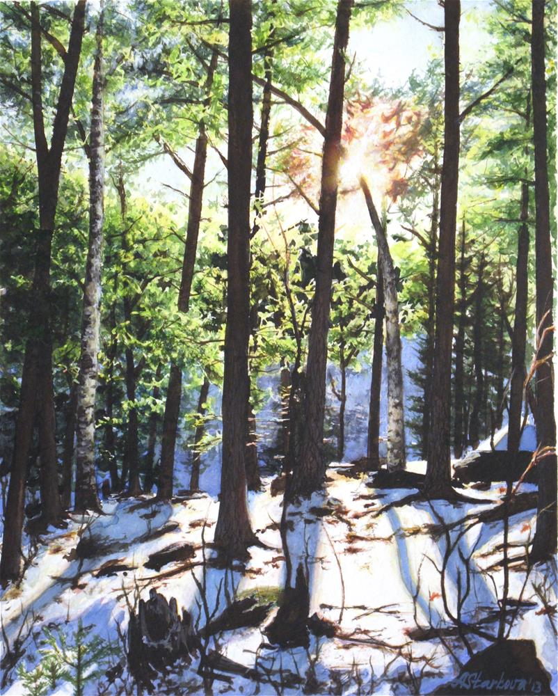 """Melting light"" original fine art by Anna Starkova"