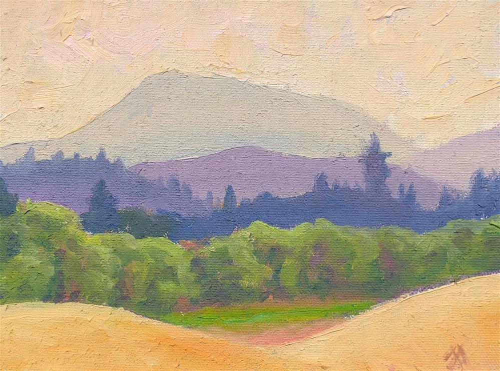 """Mary's Peak Veiled"" original fine art by Mark Allison"