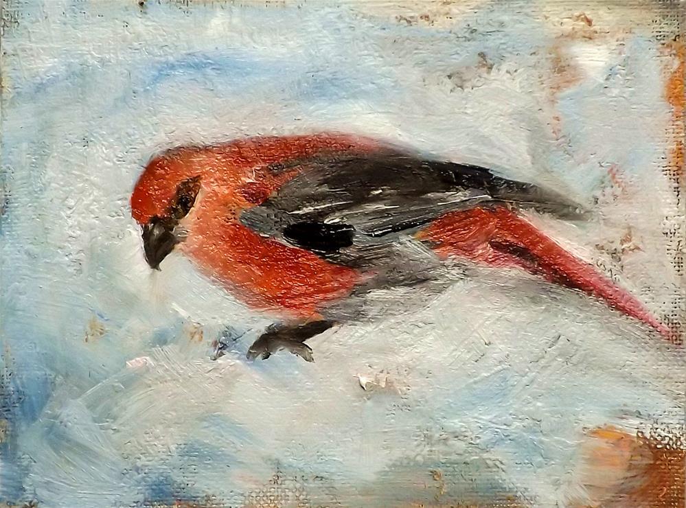 """Bird,M26"" original fine art by Run-      Zhang Zane"