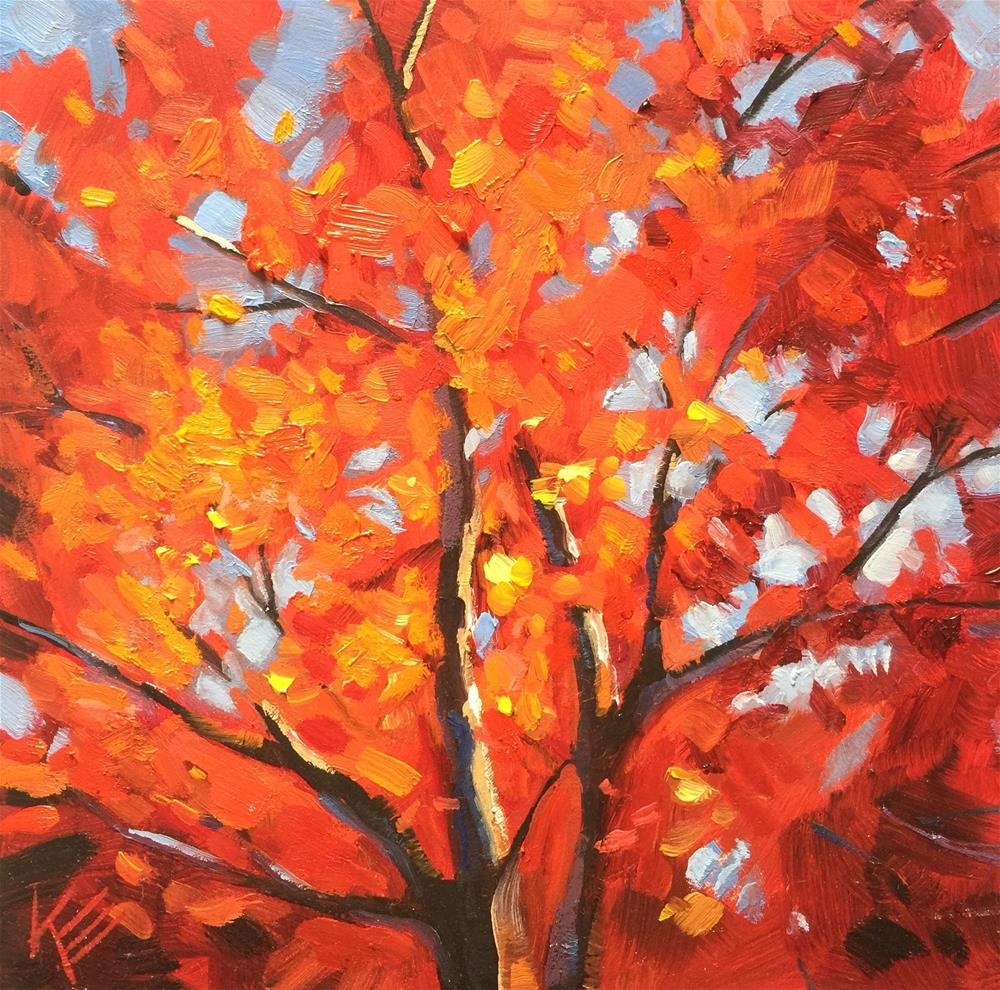 """Sky full of Fall"" original fine art by Krista Eaton"