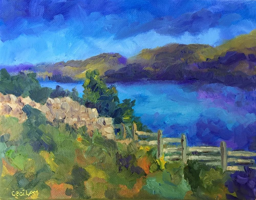 """Ennerdale, Walking the C to C, 8 x 10, oil"" original fine art by Ceci Lam"