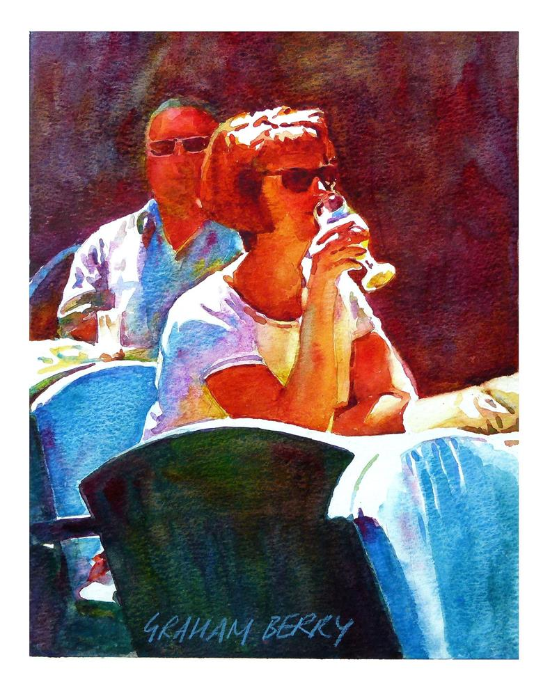 """A cooling drink"" original fine art by Graham Berry"