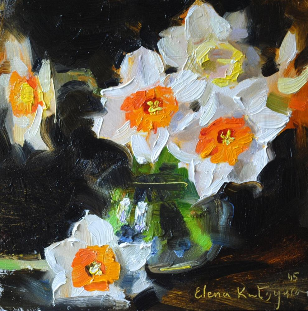 """Royal Daffodils"" original fine art by Elena Katsyura"