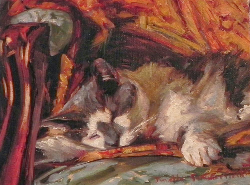 """""""Asleep on a Blanket II"""" original fine art by Jonelle Summerfield"""