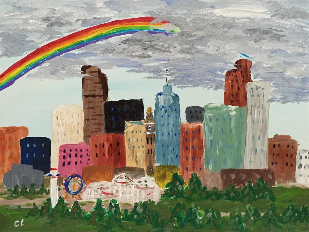 """Rainbow Bright"" original fine art by Cheree Apalona Lueck"