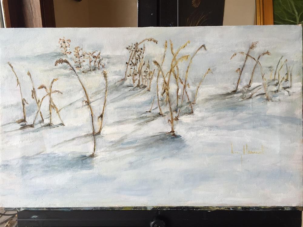 """SNOW SHADOWS"" original fine art by Lucy Hammett"