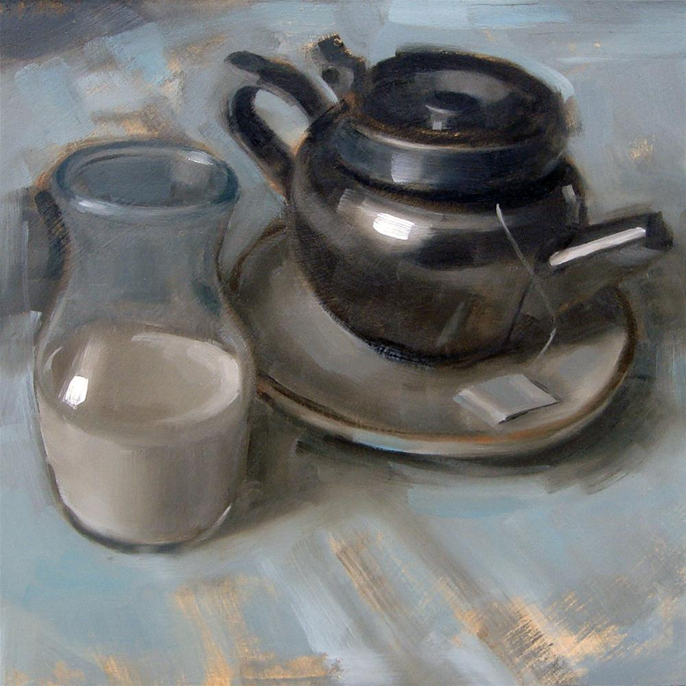 """Black Tea and Milk (no.78)"" original fine art by Michael William"