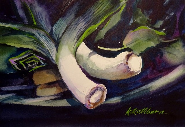 """Oh My !  I Have a Leak"" original fine art by Kathy Los-Rathburn"