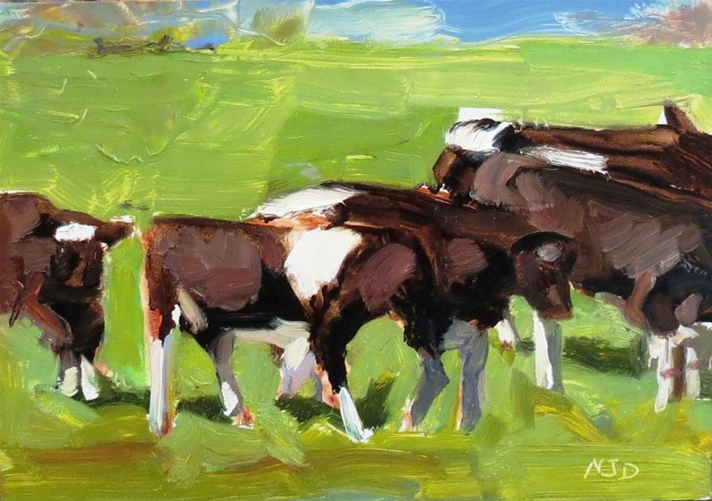 """Fairmont Cows"" original fine art by Nancy Darling"