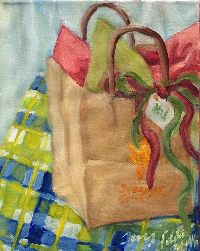 """Gift Bag in Oils"" original fine art by Tracy Feldman"