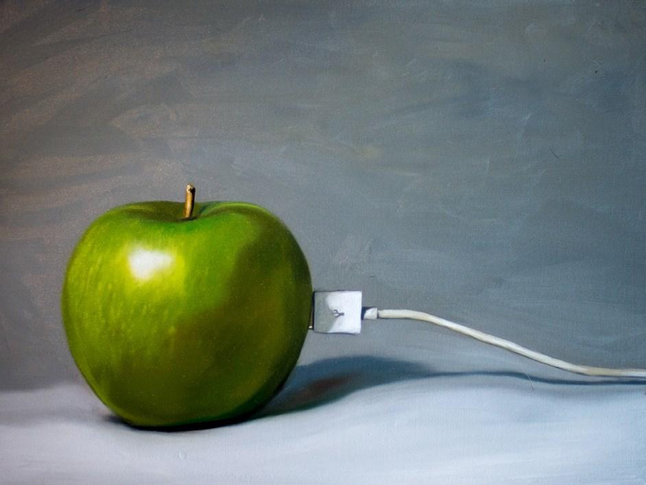 """Electric Apple"" original fine art by Lauren Pretorius"