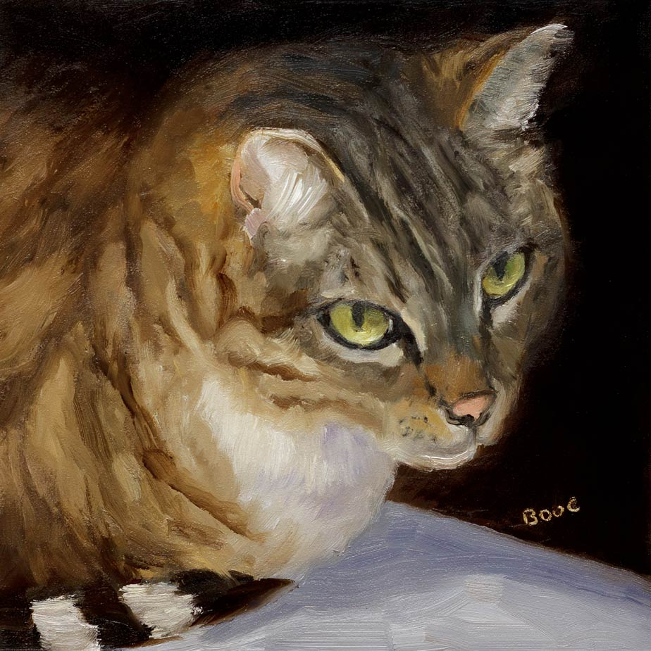 """Busby Berkeley: The Cat"" original fine art by Jana Bouc"