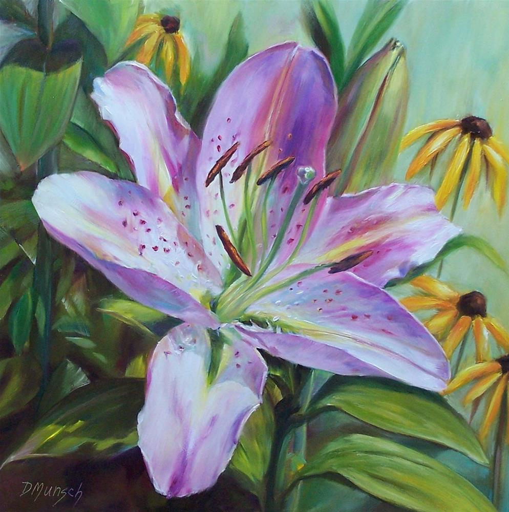 """Peppermint Lily"" original fine art by Donna Munsch"