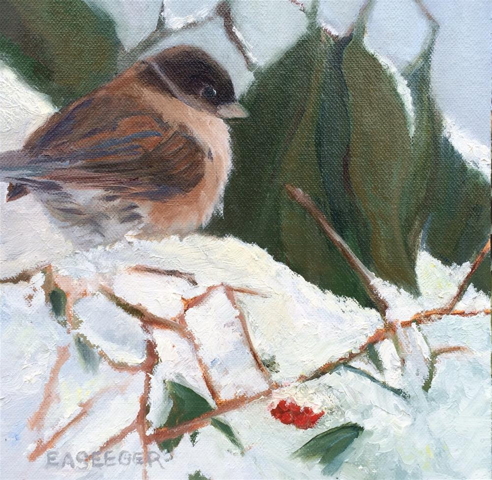 """Last Cold Bird"" original fine art by Elisabeth Seeger"