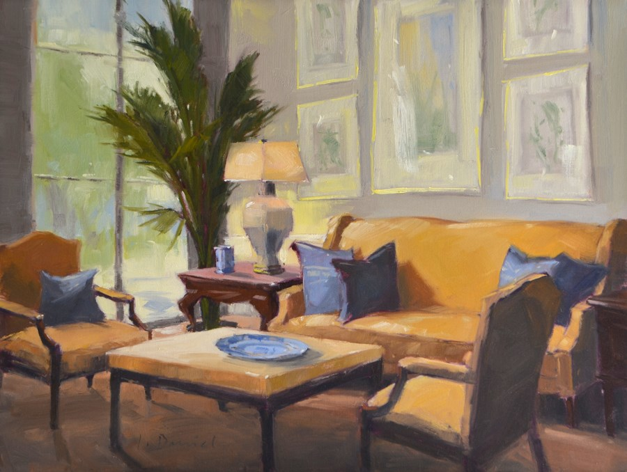 """Sitting Room Quietude"" original fine art by Laurel Daniel"