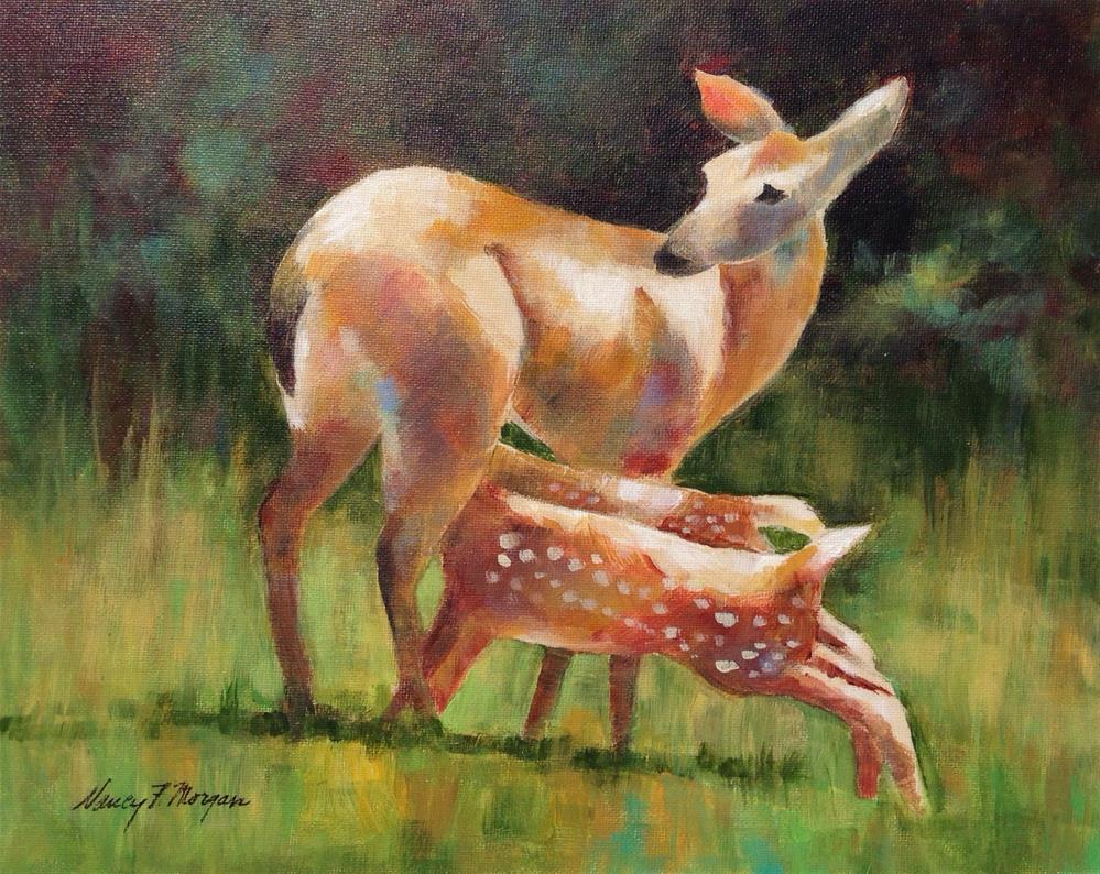 """Watchful"" original fine art by Nancy F. Morgan"