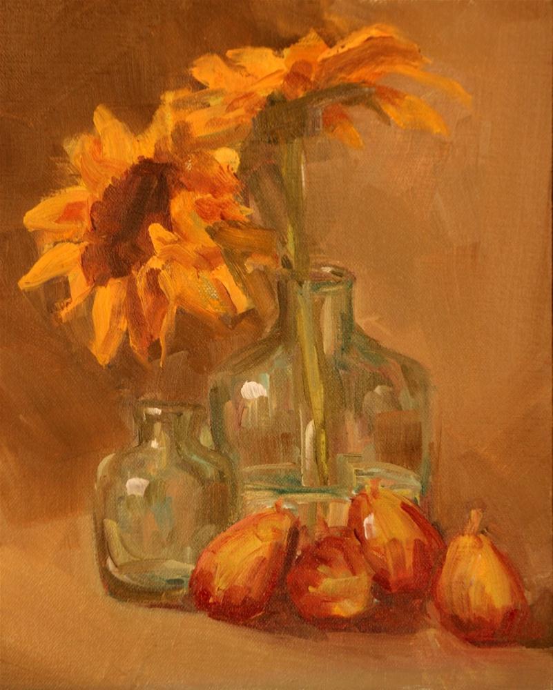 """figs and sun flowers"" original fine art by Carol Carmichael"