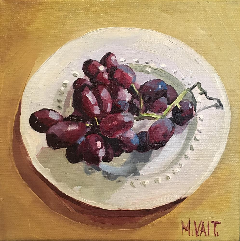 """Grapes"" original fine art by Milda Vaitiekunaite"