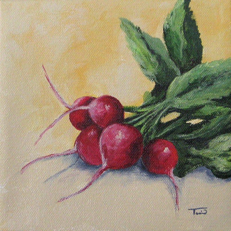 """Radishes"" original fine art by Torrie Smiley"