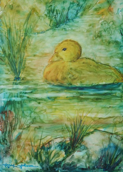 """Just Ducky"" original fine art by Jana Johnson"