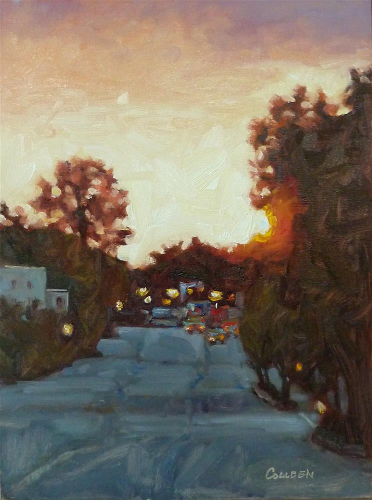 """Coming into Town"" original fine art by Colleen Parker"
