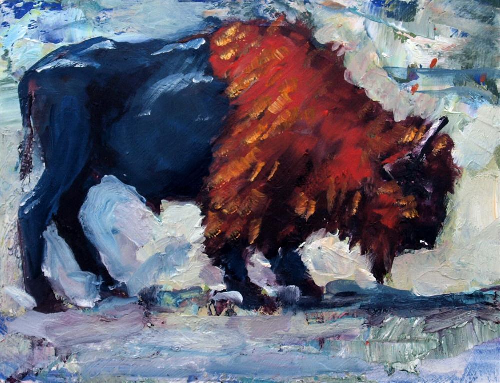 """Buffalo"" original fine art by Rick Nilson"