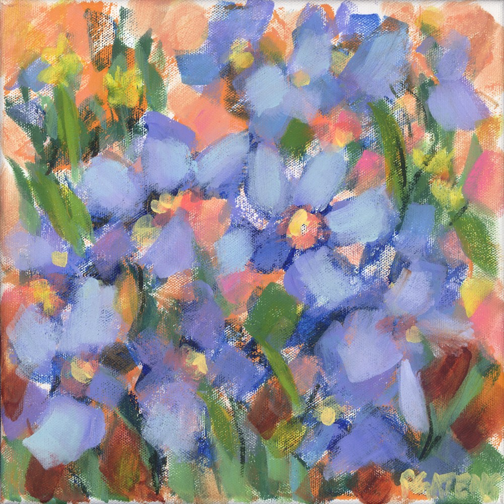 """Blue Tapestry"" original fine art by Pamela Gatens"