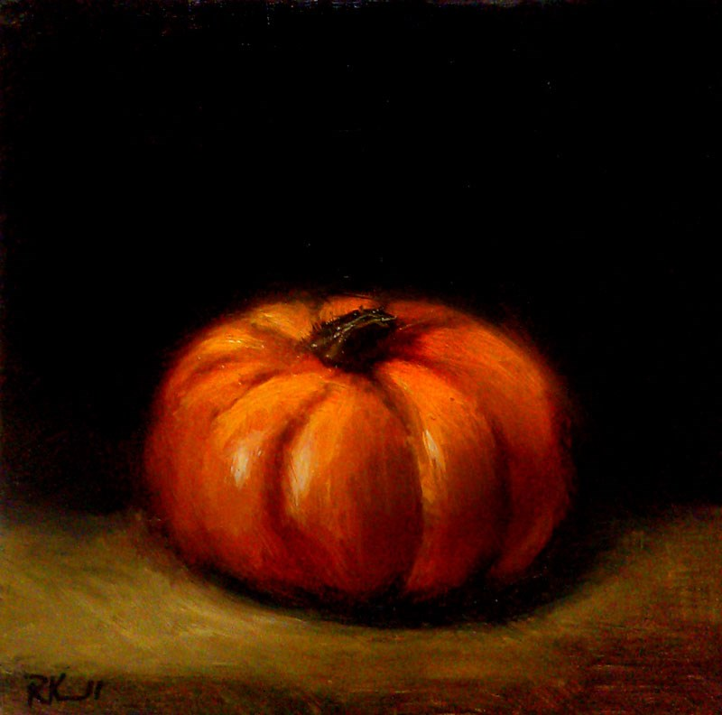"""September Pumpkin"" original fine art by Bob Kimball"