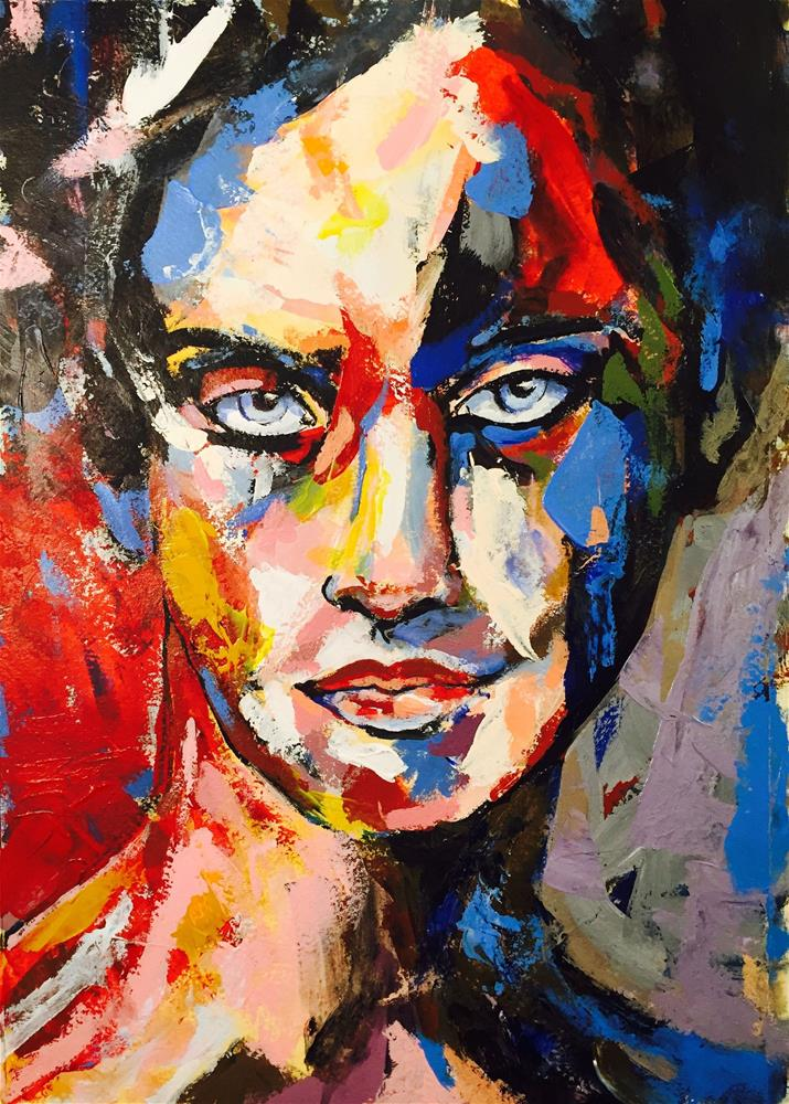 """BLUE EYES"" original fine art by Ferran Llagostera"