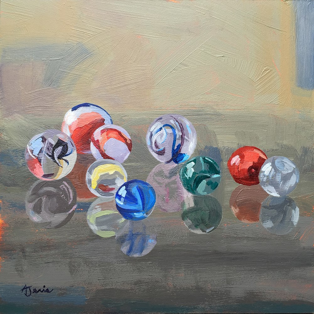 """Found Marbles"" original fine art by Andrea Jeris"