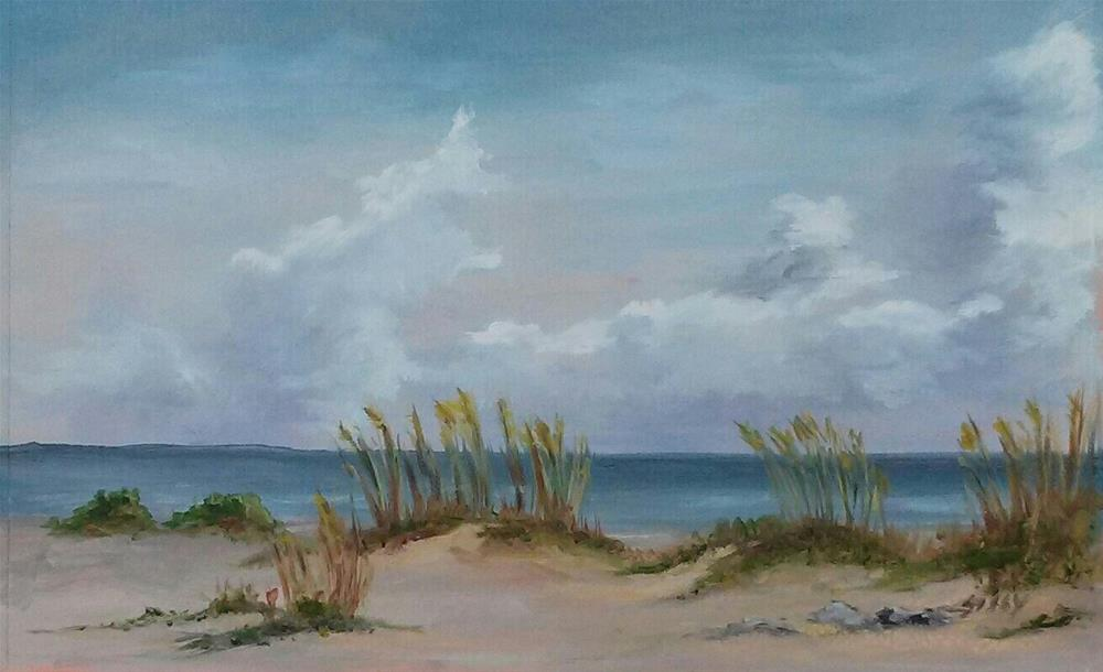 """Beach Day Boca Grande Plein Air"" original fine art by Sissy Blakslee"