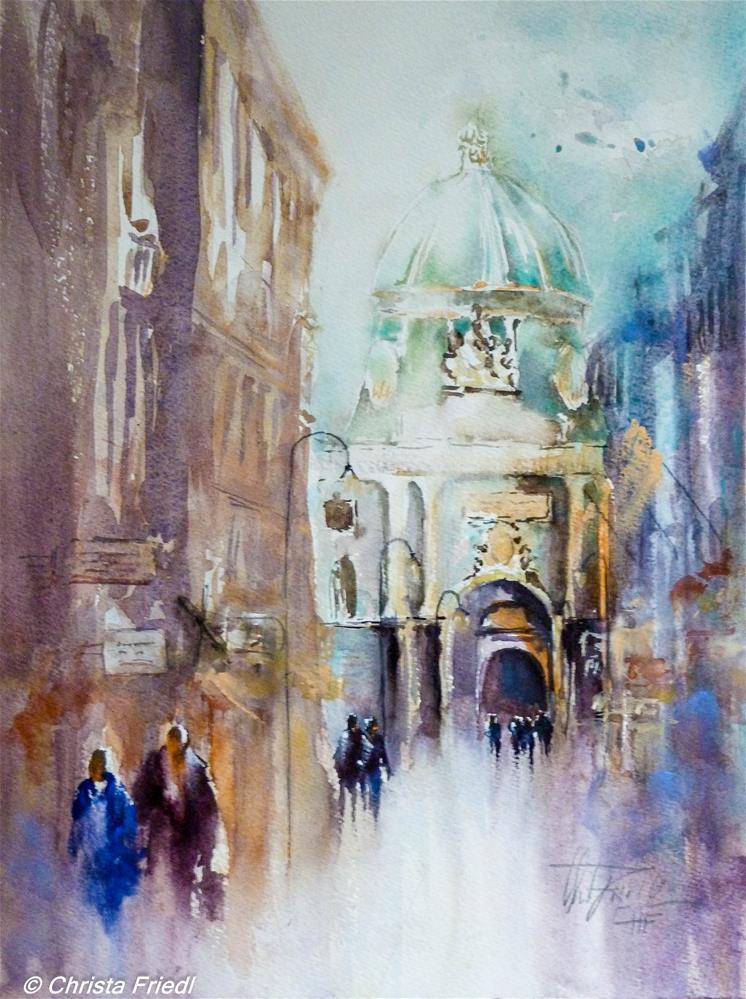 """""""Michaeler Tor Hofburg Vienna"""" original fine art by Christa Friedl"""