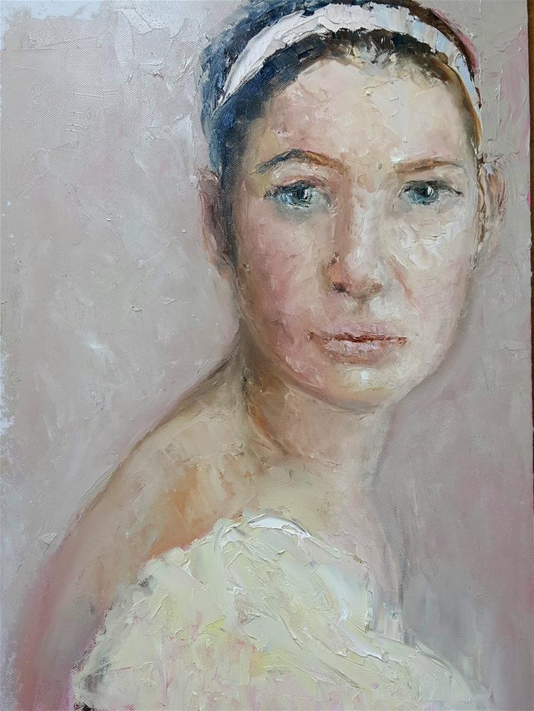 """Palette knife Ballerina"" original fine art by Rentia Coetzee"