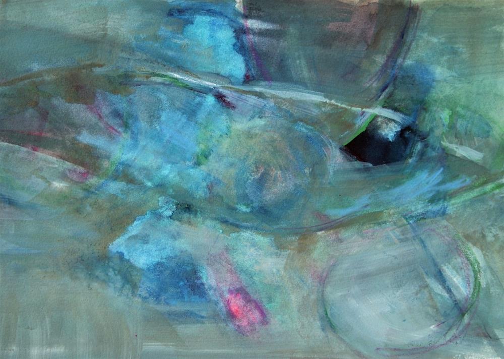 """Blue Landscape"" original fine art by Amy Bryce"