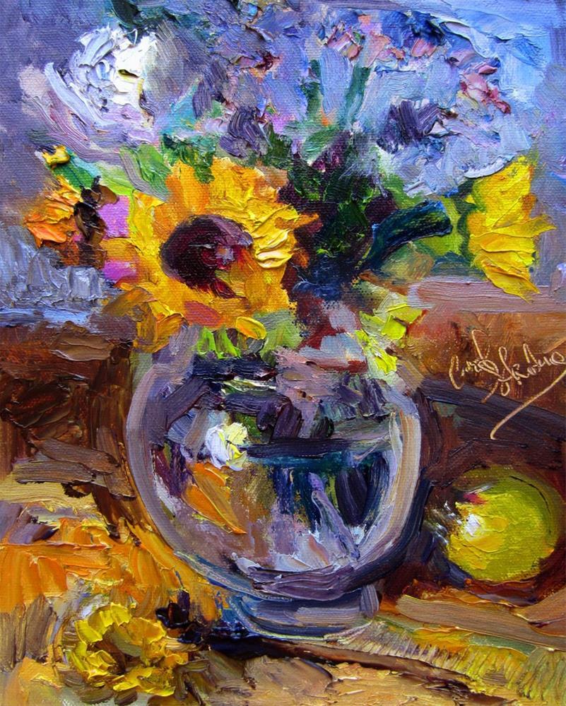 """""""Moribund Bouquet"""" original fine art by Carol Steinberg"""