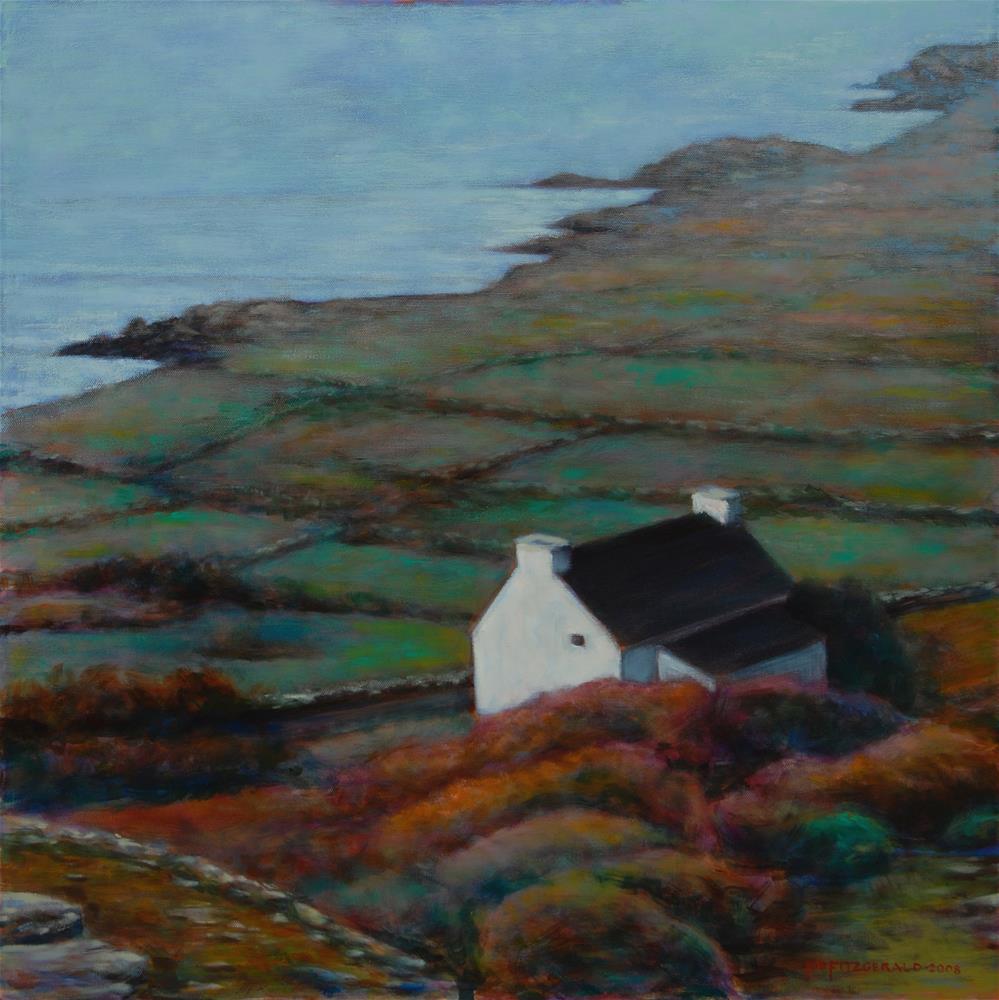 """""""The Last House in Kerry"""" original fine art by Joe Fitzgerald"""