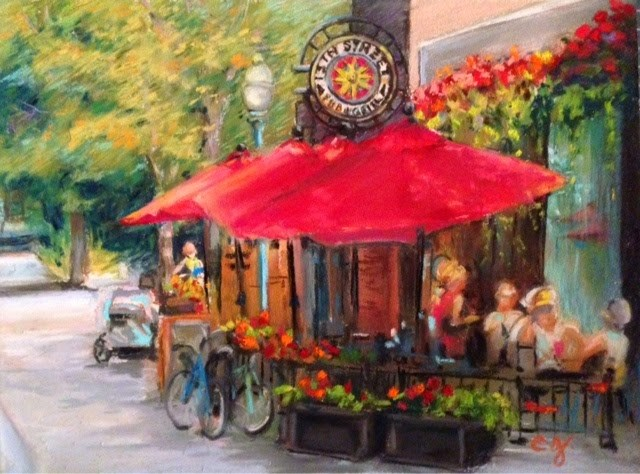 """Hyde Park - 13th Street Pub & Grill"" original fine art by Cindy Gillett"